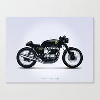 cafe racer Canvas Prints featuring Honda CB750 cafe racer by GarageProject101