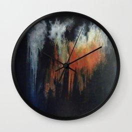 HAZY PINNACLES Wall Clock
