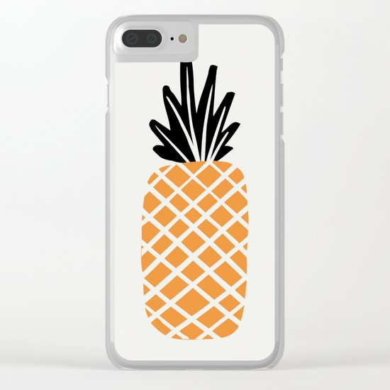 Single Pineapple Clear iPhone Case