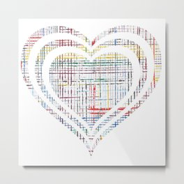 The System - heart Metal Print