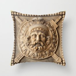 Fighting Knight Crest Throw Pillow
