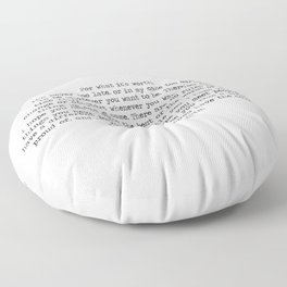 For What It's Worth F. Scott Fitzgerald Life Quote Floor Pillow