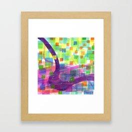 Bend and Squares Framed Art Print