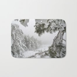 """""""Snowy forest"""". At the foggy mountains... Bath Mat"""