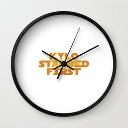 Kylo Stabbed First Wall Clock