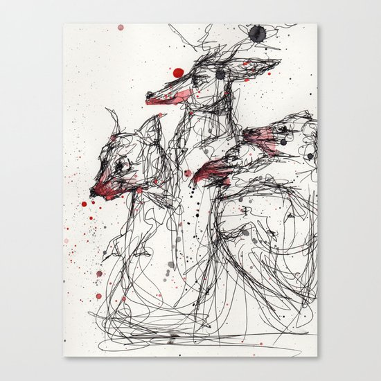 Frothing Canvas Print