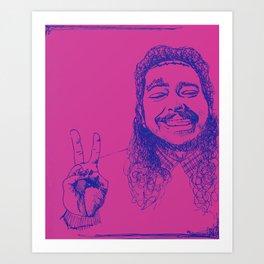 Happy Posty Art Print