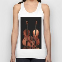 mortal instruments Tank Tops featuring String Instruments by Simone Gatterwe