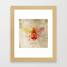 Watercolor Bumblebee Framed Art Print