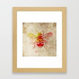 Watercolor Bumblebee Framed Art Print