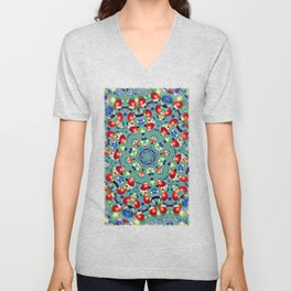 Bead Flower Kaleidoscope Unisex V-Neck