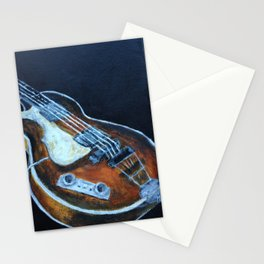 ~orignal Rachael Chatoor acrylic - bass on black~ Stationery Cards