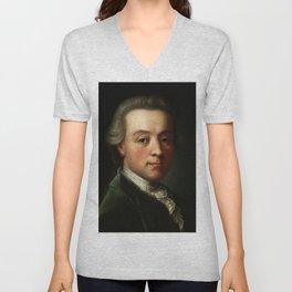 Wolfgang Amadeus Mozart (1756 -1791) portrait Unisex V-Neck