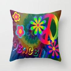 peace !!! Throw Pillow