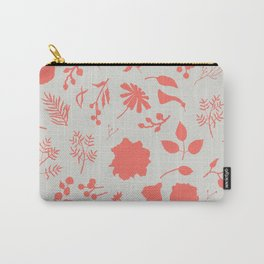 Coral Blooms Silhouettes Carry-All Pouch