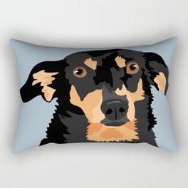 Black and Tan Dachshund Rectangular Pillow
