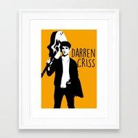 darren criss Framed Art Prints featuring Darren Criss with guitar! by byebyesally