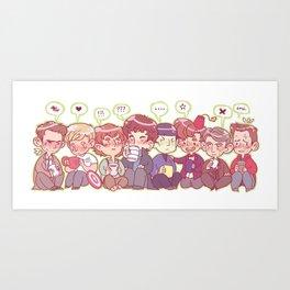 Pastel Fandoms Art Print