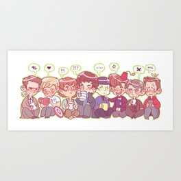 Pastel Fandoms Art Print