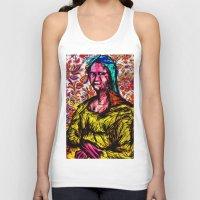 mona lisa Tank Tops featuring Mona Lisa by Alec Goss