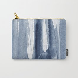 Abstract Watercolor Navy blue brush strokes print Carry-All Pouch