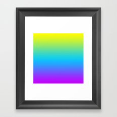 YELLOW/TEAL/PURPLE FADE Framed Art Print