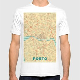 Porto Map Retro T-shirt