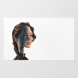 Jennifer Lawrence as Katniss Everdeen Rug