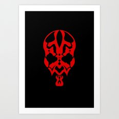 Hand of Rage (Darth Maul) Art Print
