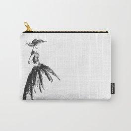Retro fashion sketch Carry-All Pouch