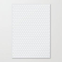 Grey small dots Canvas Print