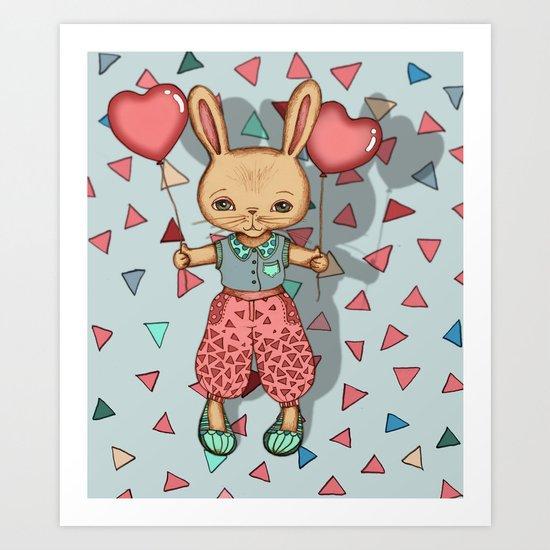 SomeBunny Loves You Art Print