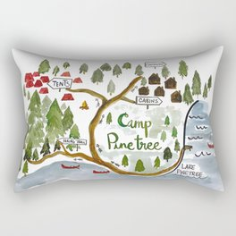 Map of Camp Pinetree Rectangular Pillow