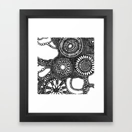 graphic dots pattern Framed Art Print