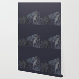 Marble Geometric Navy Blue Indigo Wallpaper