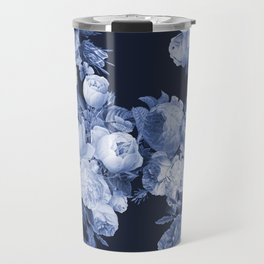 Denim and Roses Travel Mug