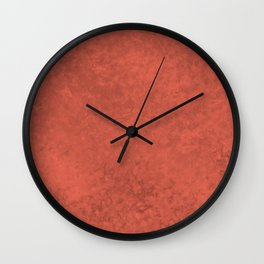 Pantone Living Coral, Liquid Hues, Abstract Fluid Art Design Wall Clock