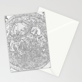 Hevelius' Selenographia - Map of the Moon 1647 Stationery Cards