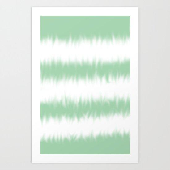 Mint Green Tie Dye Art Print