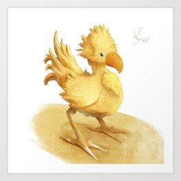 Chocobo Art Print