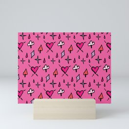 Ace Of Spade Hot Pink Mini Art Print