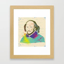 Portrait of William Shakespeare-Hand drawn Framed Art Print