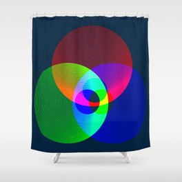 Red Green Blue Light Color Model Lines Shower Curtain