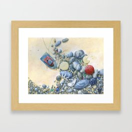 Beach Front II Framed Art Print