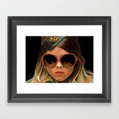 Scout Girl Framed Art Print