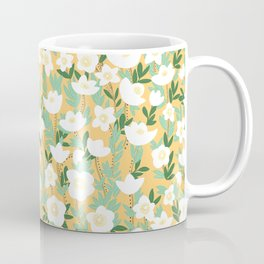 Lemonade Wildflowers in Orange Pattern Coffee Mug