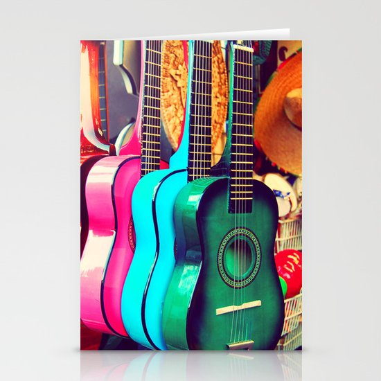 las guitarras. spanish guitars, Los Angeles photograph Stationery Cards