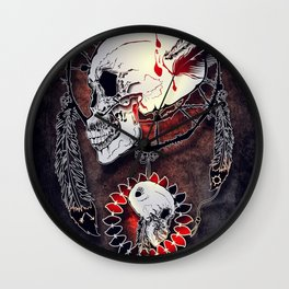 Dream Catcher Skull Wall Clock
