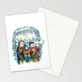 Golden Trio Stationery Cards