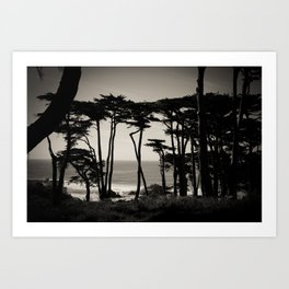 Lands End. Art Print